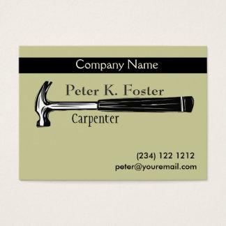 Construction Carpenter Artistic Hammer Drawing Business Card
