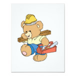 Construction Carpenter Bear Custom Invites