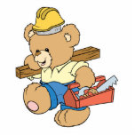 Construction Carpenter Bear Photo Cut Outs