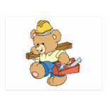 Construction Carpenter Bear Postcards