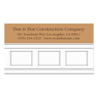 Construction Carpenter Wainscotting Molding Business Card