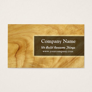 construction/carpentry business card