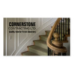 Construction Carpentry Contractor Staircase Trims Double-Sided Standard Business Cards (Pack Of 100)