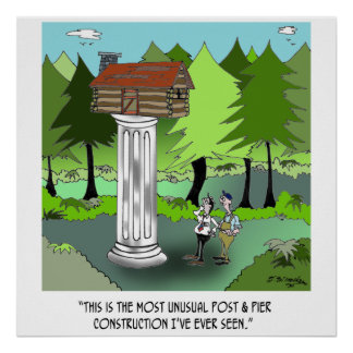 Construction Cartoon 6369 Poster
