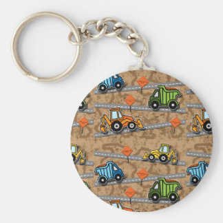 Construction Collage Keychain