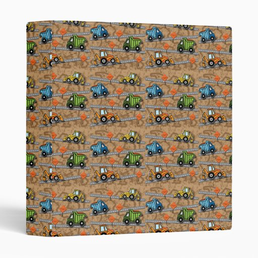 Construction collage vinyl binders zazzle for Home construction binder