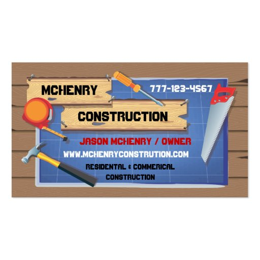 Construction pany Business Cards