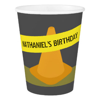 Construction Cone Birthday Party Cups