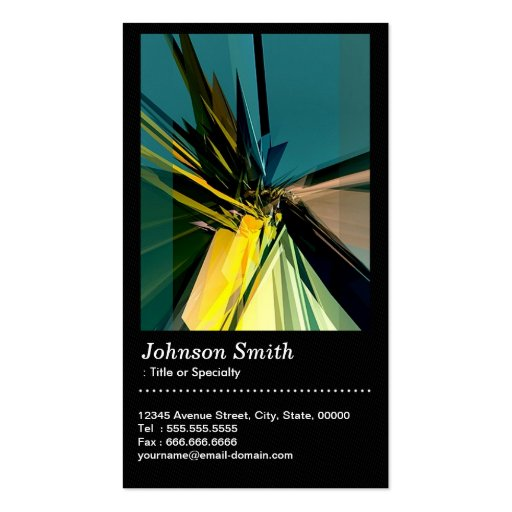 Construction Contemporary Abstract with QR Code Business Card