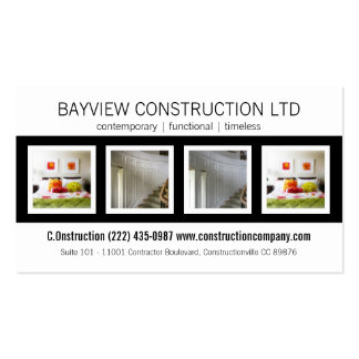 Construction Contracting Building Renovations Business Cards