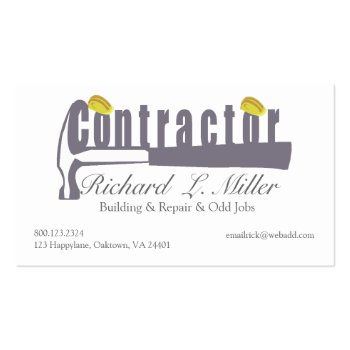 Construction Contractor Builder Business Cards