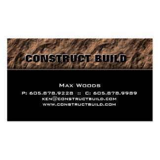 Construction Contractor Business Card Rock Beige