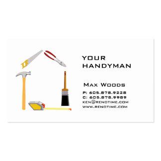 Construction Contractor Handyman Business Card
