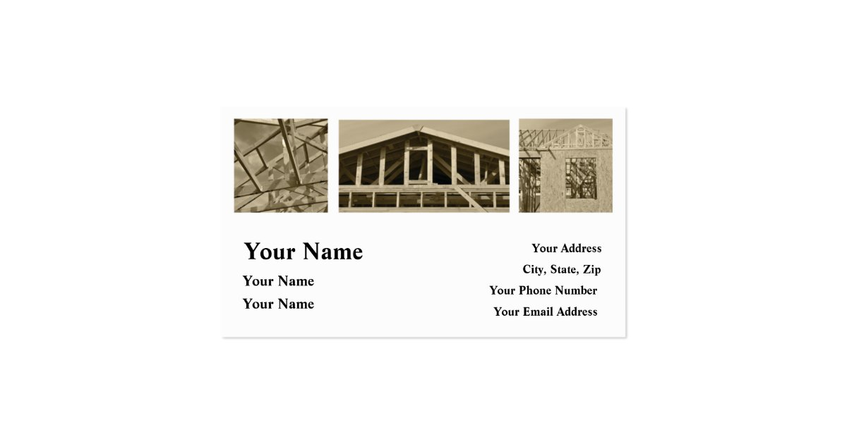 Construction contractor home repair business card zazzle for Home repair business cards