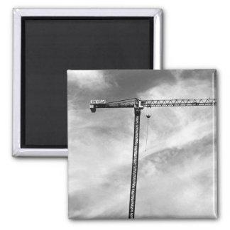 Construction Crane 2 Inch Square Magnet