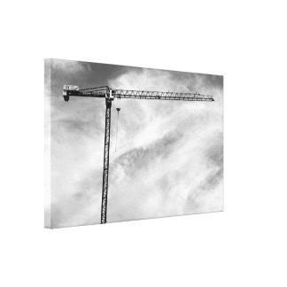 Construction Crane Stretched Canvas Print
