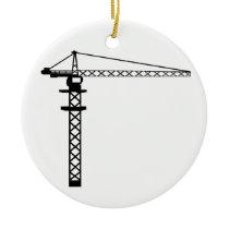 Construction Crane Ceramic Ornament