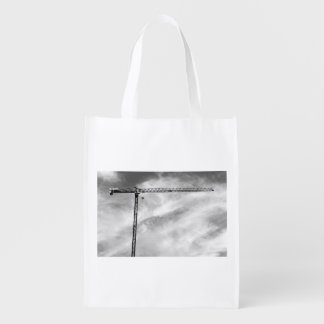 Construction Crane Grocery Bag