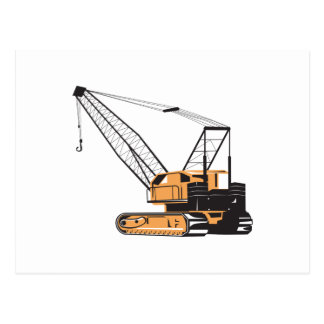 Construction Crane Hoist Retro Post Cards