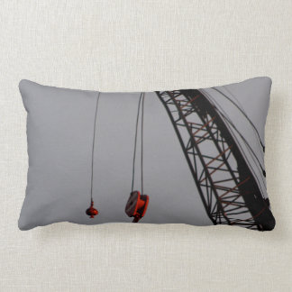 Construction crane industrial throw pillow