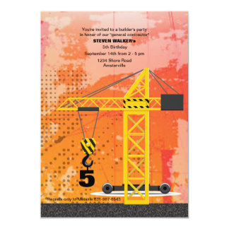 Construction Crane Invitation