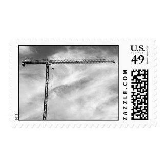 Construction Crane – Medium stamp