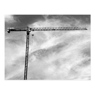 Construction Crane Post Card