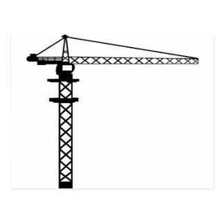 Construction Crane Postcard