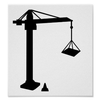 Construction crane posters