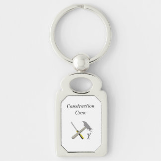 Construction Crew with Tools Keychain