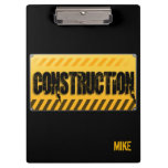 Construction Custom Printed Personalised Clipboard