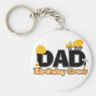 Construction Dad Birthday Crew Keychain