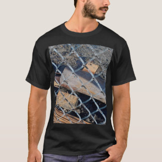 Construction Debris Behnd Fence T-Shirt