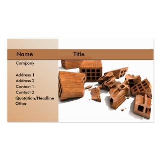 construction demolition business card template