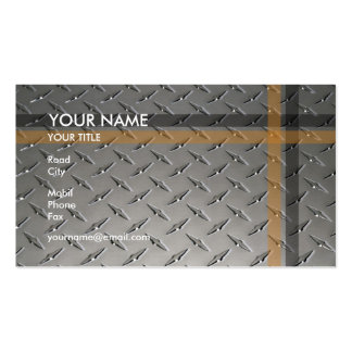 Construction | Diamond Plate Double-Sided Standard Business Cards (Pack Of 100)