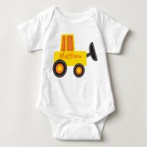 Construction Digger Personalized Baby T-Shirt