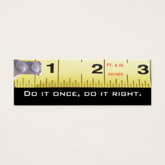 Construction ...  Do it right Mini Business Card