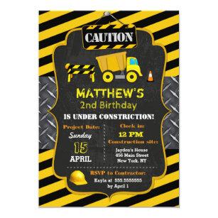 Dump truck birthday invitations announcements zazzle construction dump truck birthday invitations filmwisefo