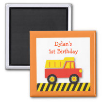 Construction Dump Truck Party Favor Magnets
