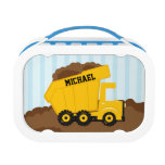 Construction dump truck personalized yubo lunchbox lunch boxes