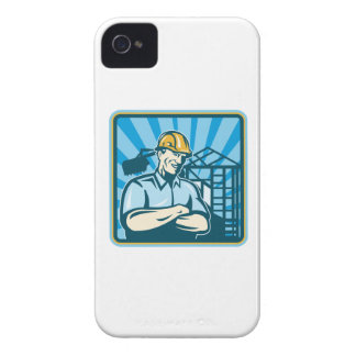 Construction Engineer Foreman Worker Case-Mate iPhone 4 Case