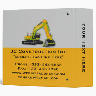 Construction Equipment Backhoe Binder 2""