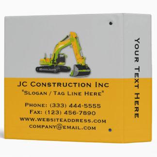 """Construction Equipment Backhoe Binder 2"""""""