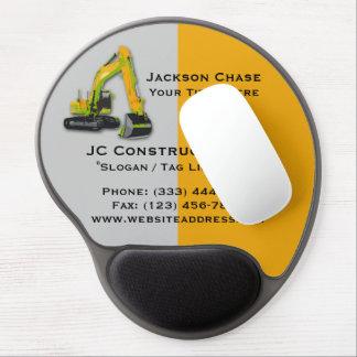 Construction Equipment Backhoe Gel Mouse Pad