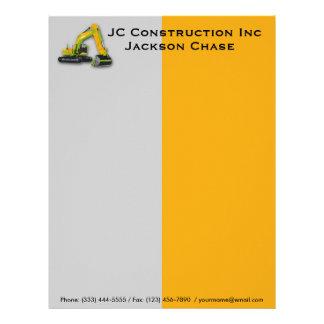 Construction Equipment Backhoe Letterhead