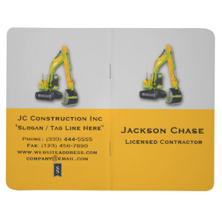 Construction Equipment Backhoe Pocket Journal