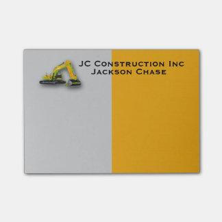 Construction Equipment Backhoe Post-it® Notes