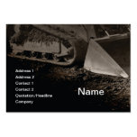 construction equipment large business cards (Pack of 100)