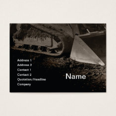 Construction Equipment Business Card at Zazzle