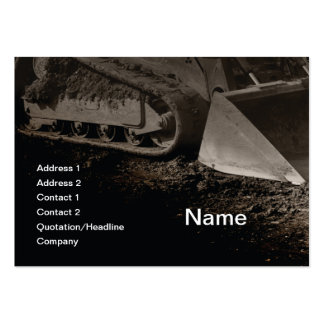 construction equipment business card templates